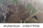 aerial top down photo of wind...   Shutterstock . vector #1106175536