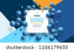 science banner with square... | Shutterstock .eps vector #1106179655