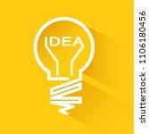 idea bulbs design over yellow... | Shutterstock .eps vector #1106180456