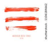 vector set of bloody red ink... | Shutterstock .eps vector #1106184662
