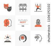 modern flat icons set of mental ... | Shutterstock .eps vector #1106192102