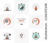 modern flat icons set of... | Shutterstock .eps vector #1106192108
