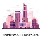 urban landscape with high... | Shutterstock .eps vector #1106193128
