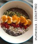 delicious  healthy breakfast... | Shutterstock . vector #1106197802