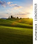 village in tuscany  italy... | Shutterstock . vector #1106202515