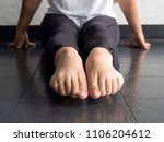 close up of dancer's pointed... | Shutterstock . vector #1106204612