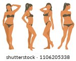 vector woman silhouettes in... | Shutterstock .eps vector #1106205338