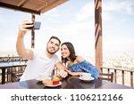 happy couple in love taking... | Shutterstock . vector #1106212166