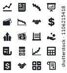 set of vector isolated black... | Shutterstock .eps vector #1106215418