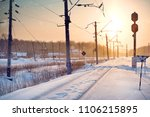 Winter Railway.the Railway Was...