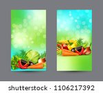 set of two vertical banners... | Shutterstock . vector #1106217392