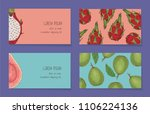 fruit business cards template... | Shutterstock .eps vector #1106224136