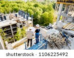 top view on the construction... | Shutterstock . vector #1106225492