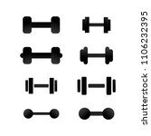 hand held dumbell barbell... | Shutterstock .eps vector #1106232395