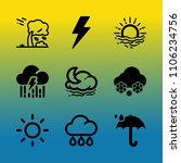 vector icon set about weather... | Shutterstock .eps vector #1106234756