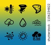 vector icon set about weather... | Shutterstock .eps vector #1106234822