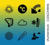 vector icon set about weather... | Shutterstock .eps vector #1106234846