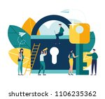 abstract vector illustration of ... | Shutterstock .eps vector #1106235362