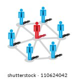 network of business plans. the... | Shutterstock .eps vector #110624042