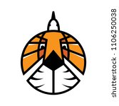 tiger bird vector logo... | Shutterstock .eps vector #1106250038