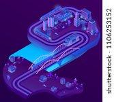 vector 3d isometric train... | Shutterstock .eps vector #1106253152
