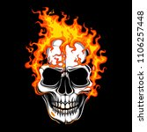 skull fire vector | Shutterstock .eps vector #1106257448