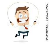 skipping businessman clipart | Shutterstock .eps vector #1106262902