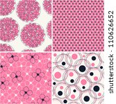 set of four seamless abstract... | Shutterstock .eps vector #110626652