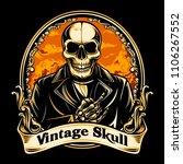 vintage skull vector | Shutterstock .eps vector #1106267552