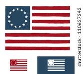 original vintage american flag... | Shutterstock . vector #110627342