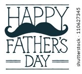 father's day text illustration... | Shutterstock . vector #110627345