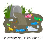 a pile of waste and debris... | Shutterstock .eps vector #1106280446