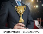 successful awarded businessman... | Shutterstock . vector #1106283992
