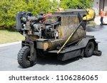 slurry machine lays down hot... | Shutterstock . vector #1106286065