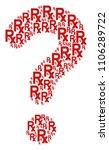 question mark mosaic... | Shutterstock .eps vector #1106289722