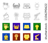 gold pistol  silver prize for...   Shutterstock .eps vector #1106290622
