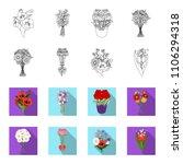 a bouquet of fresh flowers... | Shutterstock .eps vector #1106294318