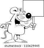 black and white illustration of ... | Shutterstock .eps vector #110629445