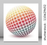 multicolored globe vector... | Shutterstock .eps vector #110629652