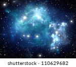 blue space star nebula | Shutterstock . vector #110629682