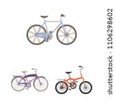 various bicycles cartoon icons... | Shutterstock .eps vector #1106298602
