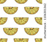 seamless pattern with hand... | Shutterstock . vector #1106301362