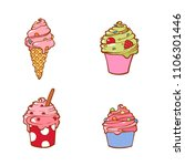 set of tasty delicious ice... | Shutterstock . vector #1106301446