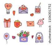 hand drawn illustrations for... | Shutterstock . vector #1106301752