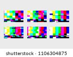 a set of static glitches. no... | Shutterstock .eps vector #1106304875