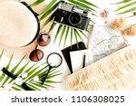 traveler accessories on white... | Shutterstock . vector #1106308025
