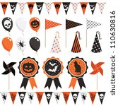 halloween party pack with... | Shutterstock .eps vector #110630816