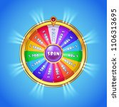 Realistic Spinning Wheel Of...