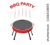 bbq party icon isolated on... | Shutterstock .eps vector #1106318855