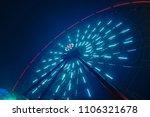 luminous ferris wheel at night...   Shutterstock . vector #1106321678